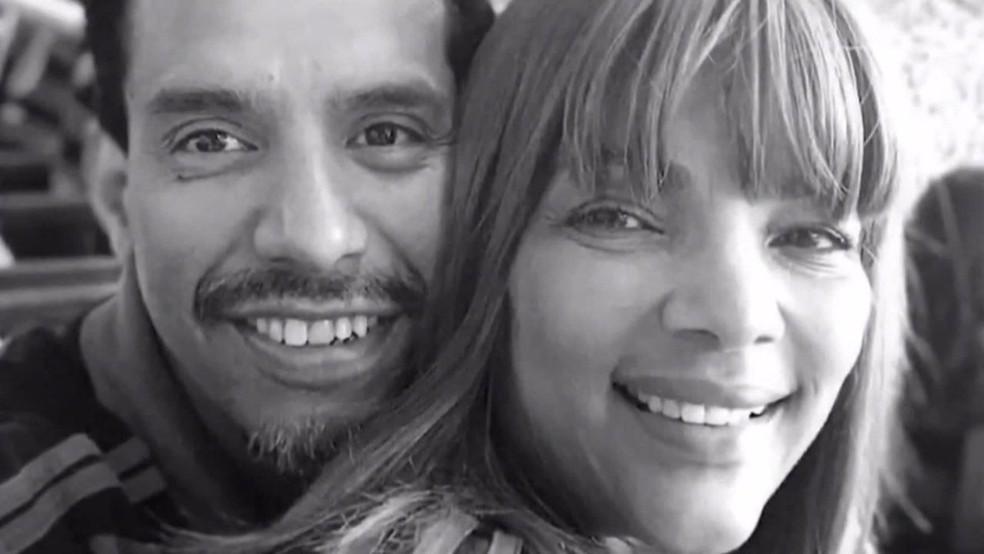 Pastor Anderson, assassinado, e a mulher Flordelis — Foto: Reprodução/TV Globo