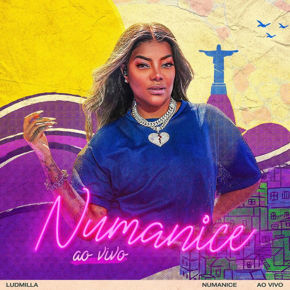 Capa do álbum 'Numanice ao vivo', de Ludmilla — Foto: Divulgação / Warner Music