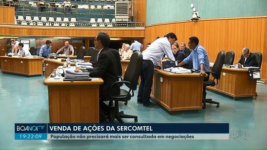 Câmara aprova, em 2ª discussão, fim da consulta popular para negociar ações da Sercomtel