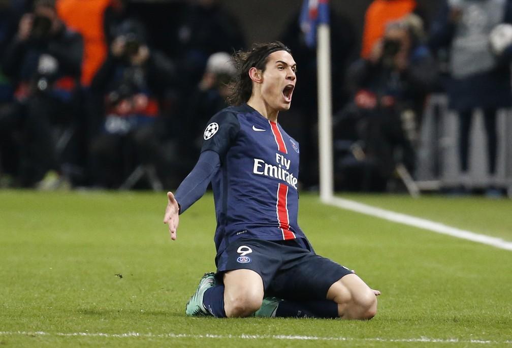 PSG eliminou o Chelsea nas oitavas de final em 2016 com gol de Cavani no jogo de ida — Foto: Reuters