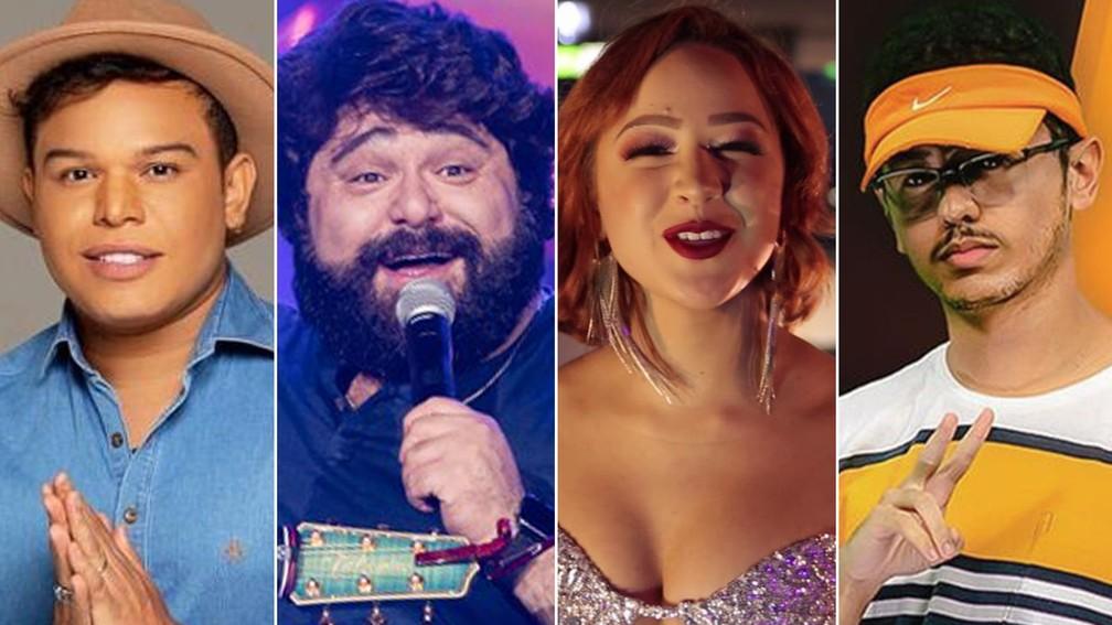 Da esquerda: Tierry, Fabiano, Malu e Lucas Beat, que fizeram as diferentes versões de 'Disco arranhado' até a música estourar nacionalmente — Foto: Divulgação