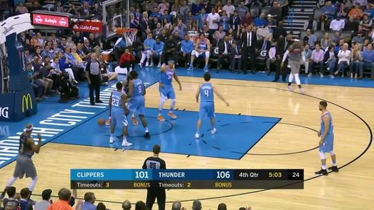 Melhores momentos: Oklahoma City Thunder 121 x 113 Los Angeles Clippers pela NBA