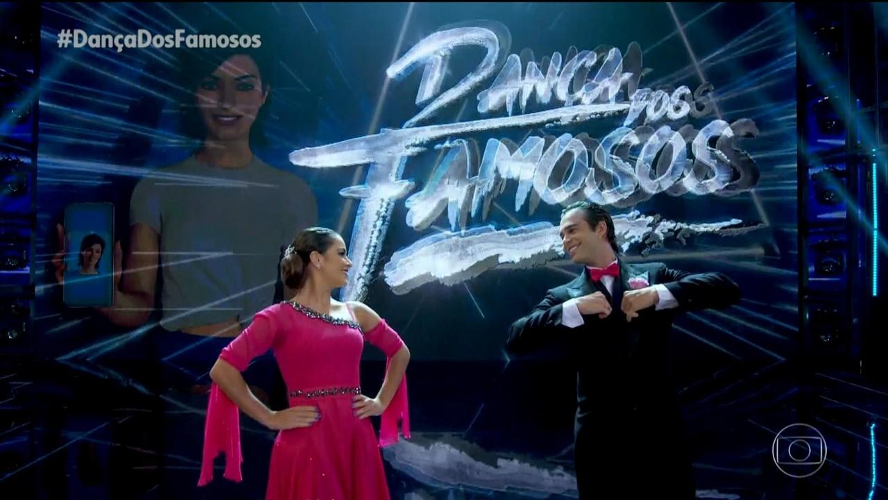 Giullia Buscacio e Danniel Navarro dançam ao som de 'Ain't That Kick In The Head'