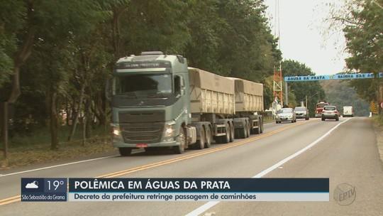 Águas da Prata proíbe trânsito de caminhões pesados aos feriados e fins de semana