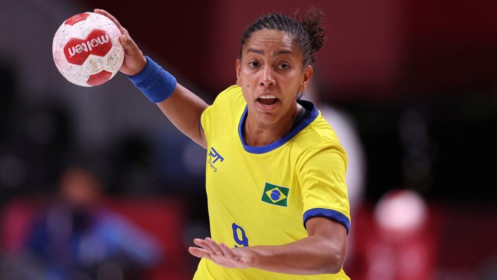 Ana Paula foi destaque na vitória do Brasil contra a Hungria — Foto: Reuters