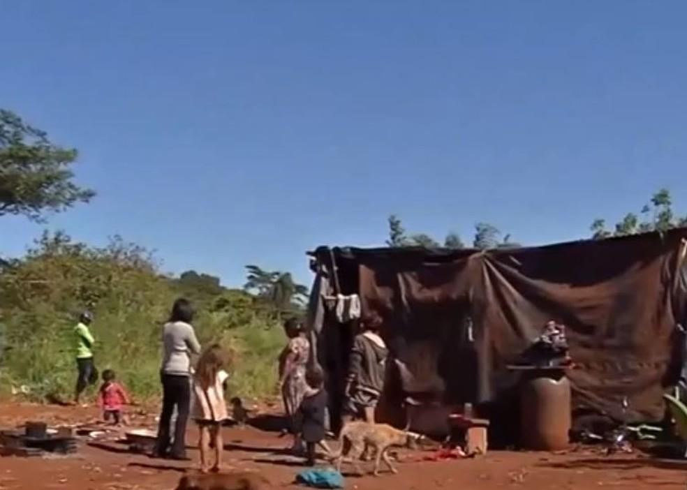 Aldeia indígena Bororó, em Dourados, onde primeiro caso de Covid-19 em indígenas foi registrado. — Foto: Reprodução/TV Morena