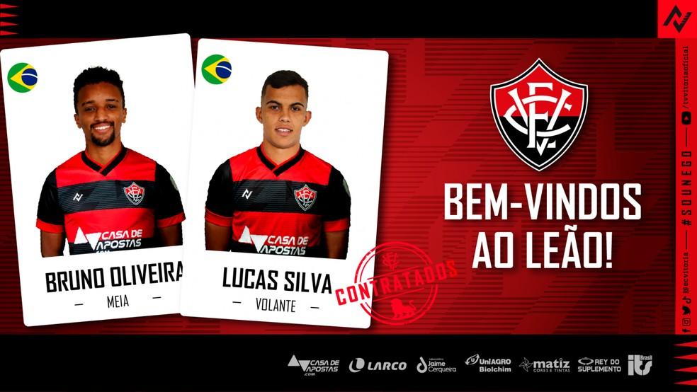 Vitória anuncia contratação de Bruno Oliveira e Lucas Silva — Foto: Divulgação/EC Vitória