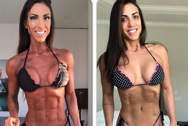 Gabi Dezan posta montagem com antes e depois (Foto: Reprodução/Instagram)