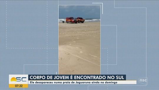 Corpo de adolescente que desapareceu no mar é encontrado em praia de Jaguaruna