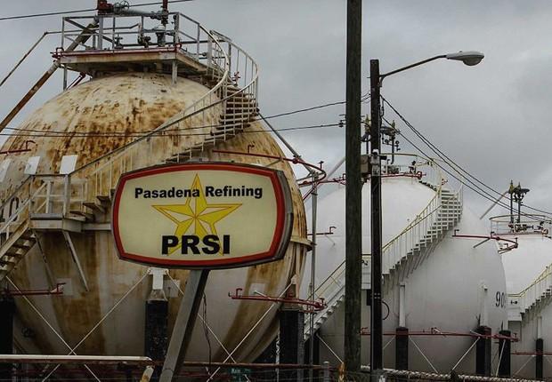 Refinaria de Pasadena , comprada pela Petrobras (Foto: Reprodução/YouTube)