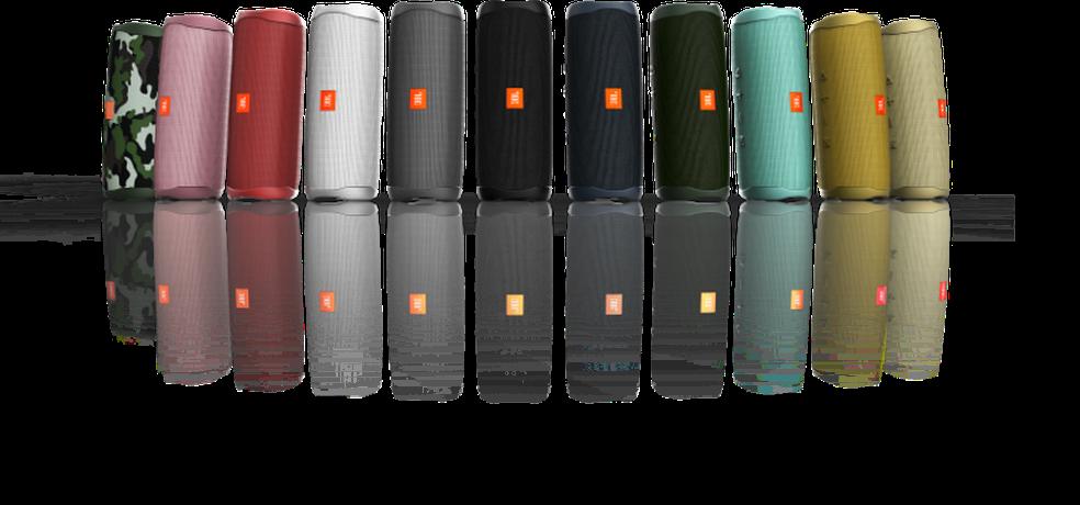 JBL Flip 5 vem com cabo USB-C e conta com 11 opções de cor — Foto: Divulgação/JBL