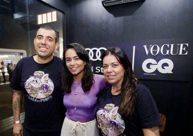 Jefferson Rueda Alline Cury e Janaina Rueda (Foto: Marco Estrella)