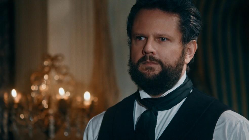 Em 'Nos Tempos do Imperador', Pedro II (Selton Mello) dará desculpas sobre Luísa, a Condessa de Barral — Foto: Globo