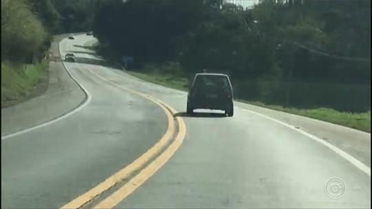 Motorista é flagrado dirigindo em zigue-zague em rodovia de Itatiba