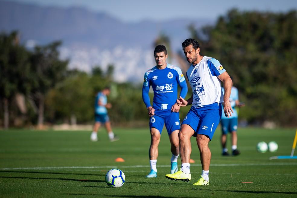Fred e Egídio jogaram juntos no Cruzeiro — Foto: Bruno Haddad/Cruzeiro
