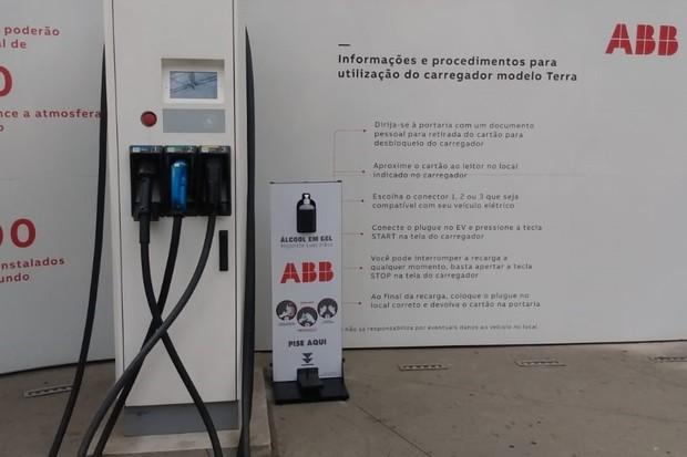 Carregador elétrico ABB (Foto: Divulgação)