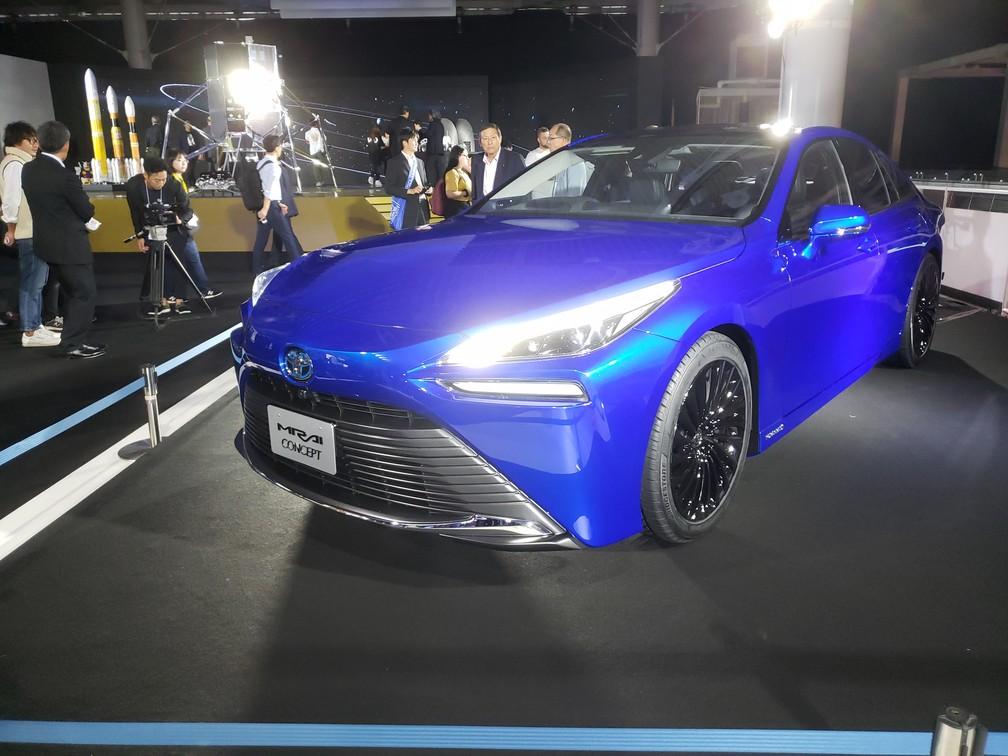 Toyota Mirai concept — Foto: Rafael Miotto/G1