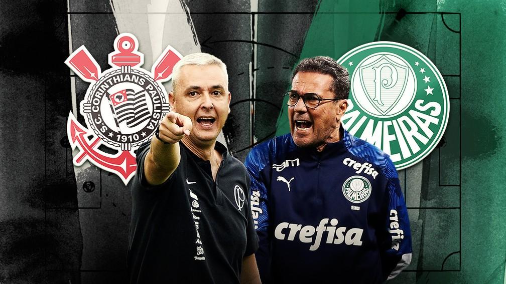 Tiago Nune e Vanderlei Luxemburgo vão disputar a taça do Paulistão — Foto: ge
