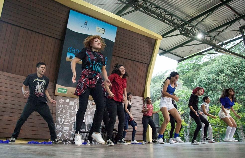 Show de dança acontece no sábado (26) no palco do Parque das Dunas, em Natal — Foto: Tiago Lima/Divulgação
