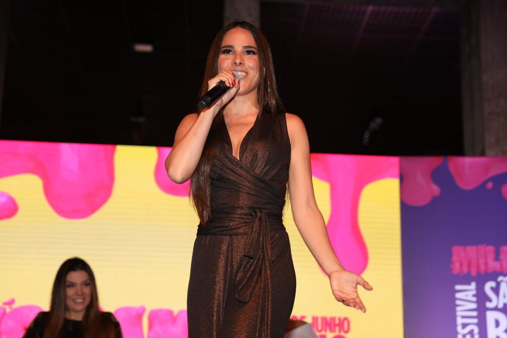 -  Wanessa Camargo em evento de lançamento do Milkshake Festival em SP  Foto: Fabio Tito / G1