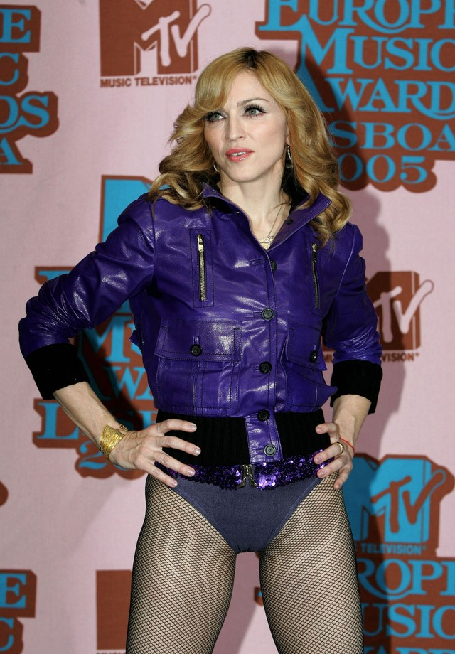 Madonna no Europe Music Awards de 2005 (Foto: Getty Images)