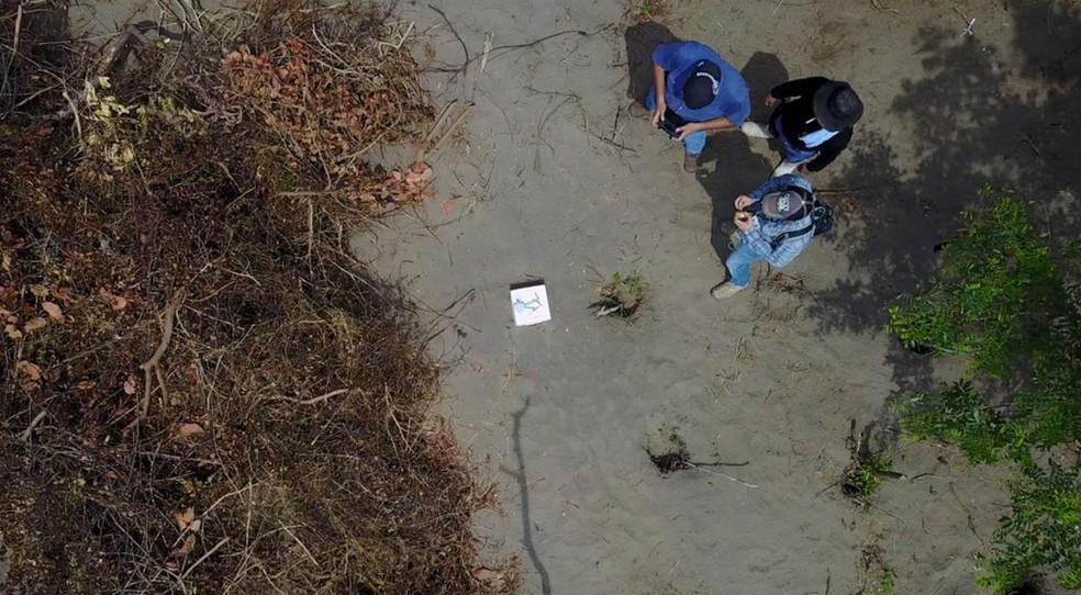 Fossa clandestina com 166 corpos foi encontrada no estado mexicano de Veracruz (Foto: Fiscalía de Veracruz via AP)