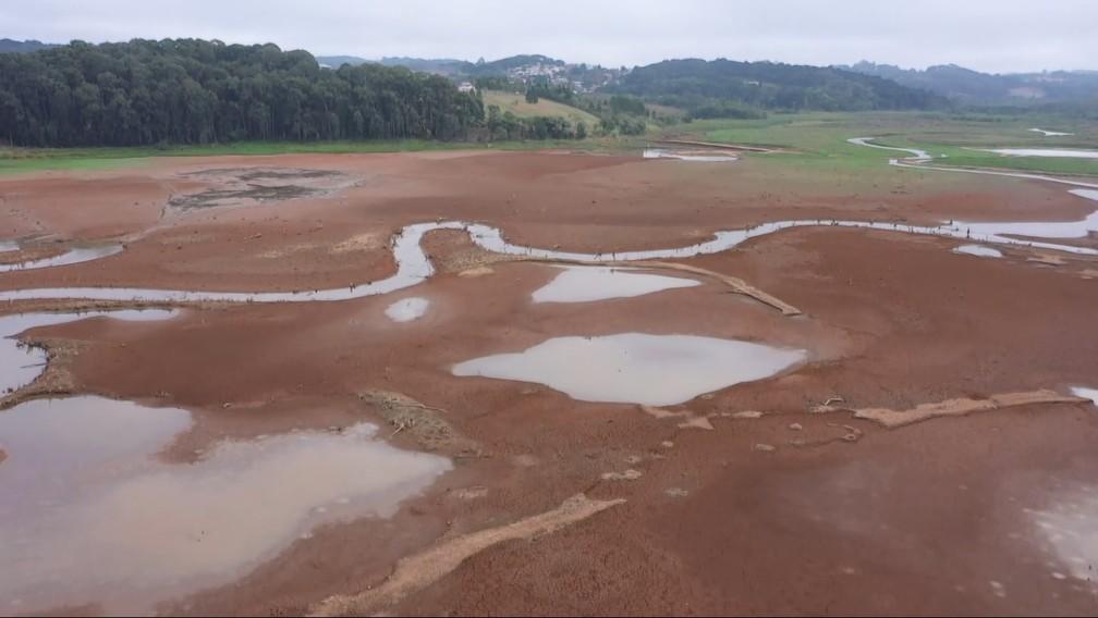 Nível de reservatórios que abastecem Curitiba e Região é de 43%, segundo a Sanepar — Foto: Arquivo/RPC