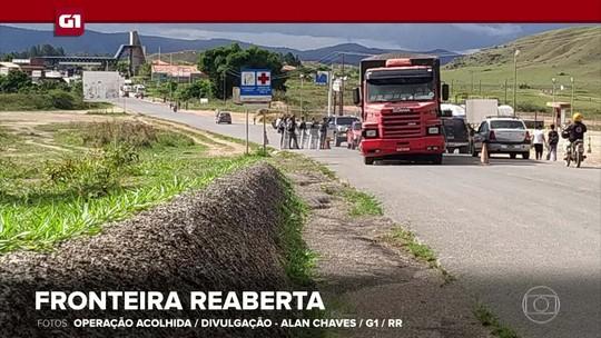 G1 em 1 Minuto: Venezuela reabre fronteira com o Brasil