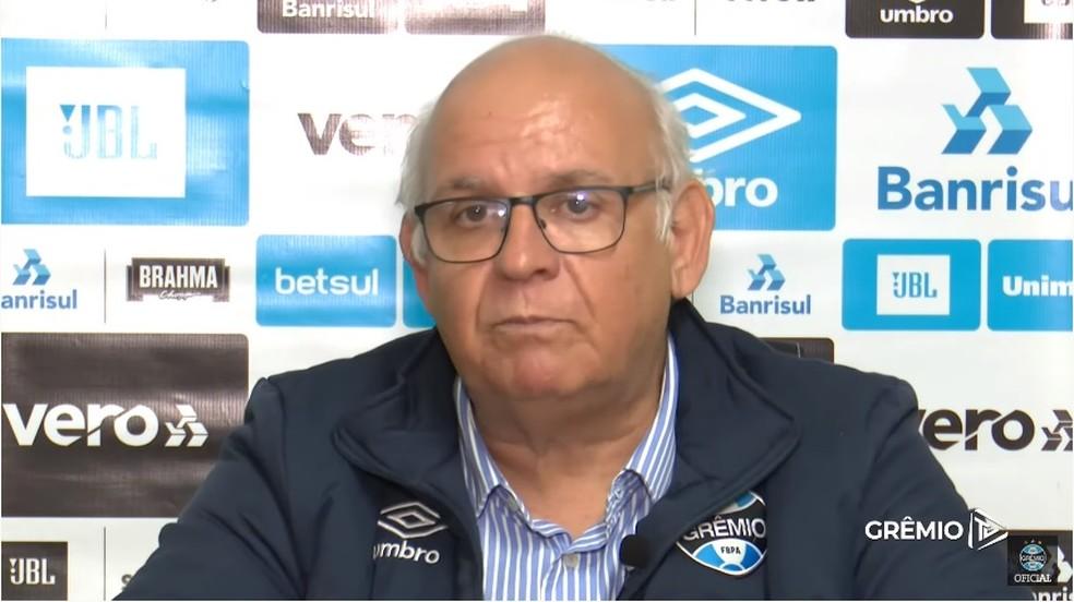 Romildo Bolzan tenta contratar reforços ao Grêmio — Foto: Reprodução