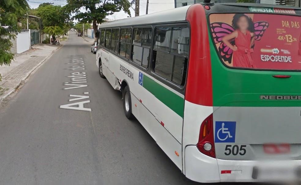 Rua 20 de janeiro fica em Setubal, em Boa Viagem, no Recife (Foto: Google Maps/ Street View)