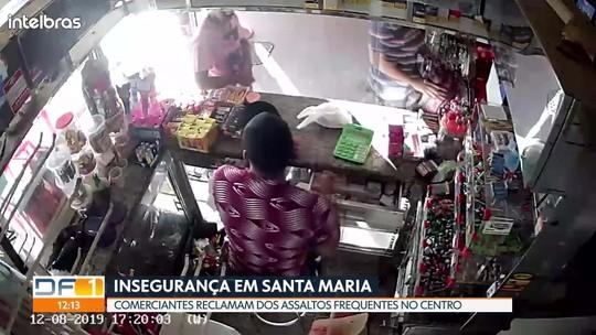 Comerciantes de Santa Maria reclamam da insegurança na quadra central
