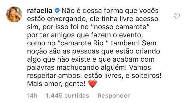 Rafaela Santos defende Neymar (Foto: Reprodução/Instagram)