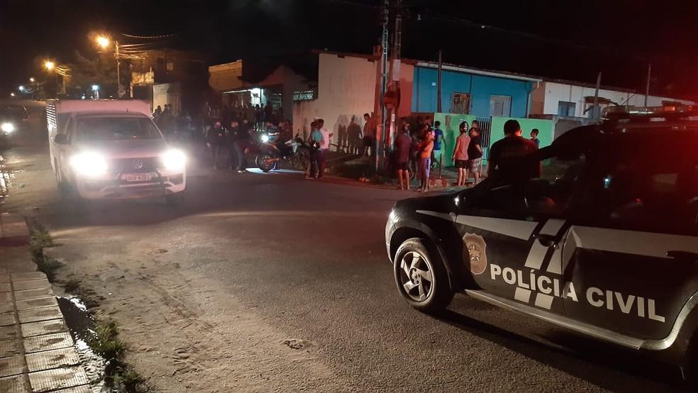 Assassinato de homem na Zona Norte de Natal será investigado pela DHPP — Foto: Sérgio Henrique Santos/Inter TV Cabugi