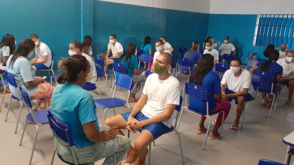 Visitas presenciais são retomadas na Penitenciária de Alcaçuz, em Nísia Floresta — Foto: Divulgação