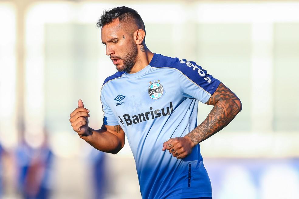 Montoya disputou 12 partidas pelo Grêmio e fez dois gols — Foto: Lucas Uebel/DVG/Grêmio