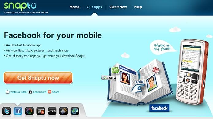 O aplicativo israelense Snaptu passou a ser do Facebook em 2011 (Foto: Reprodução/TechCrunch)