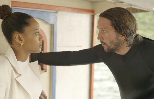 Na terça (10), Davi (Vladimir Brichta) descobrirá que Vitória (Taís Araujo) é advogada de Álvaro (Irandhir Santos) (Foto: Reprodução)