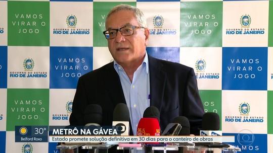 Estado promete solução definitiva em 30 dias para canteiro de obras do metrô da Gávea