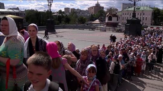 Relíquias de São Nicolau param Moscou