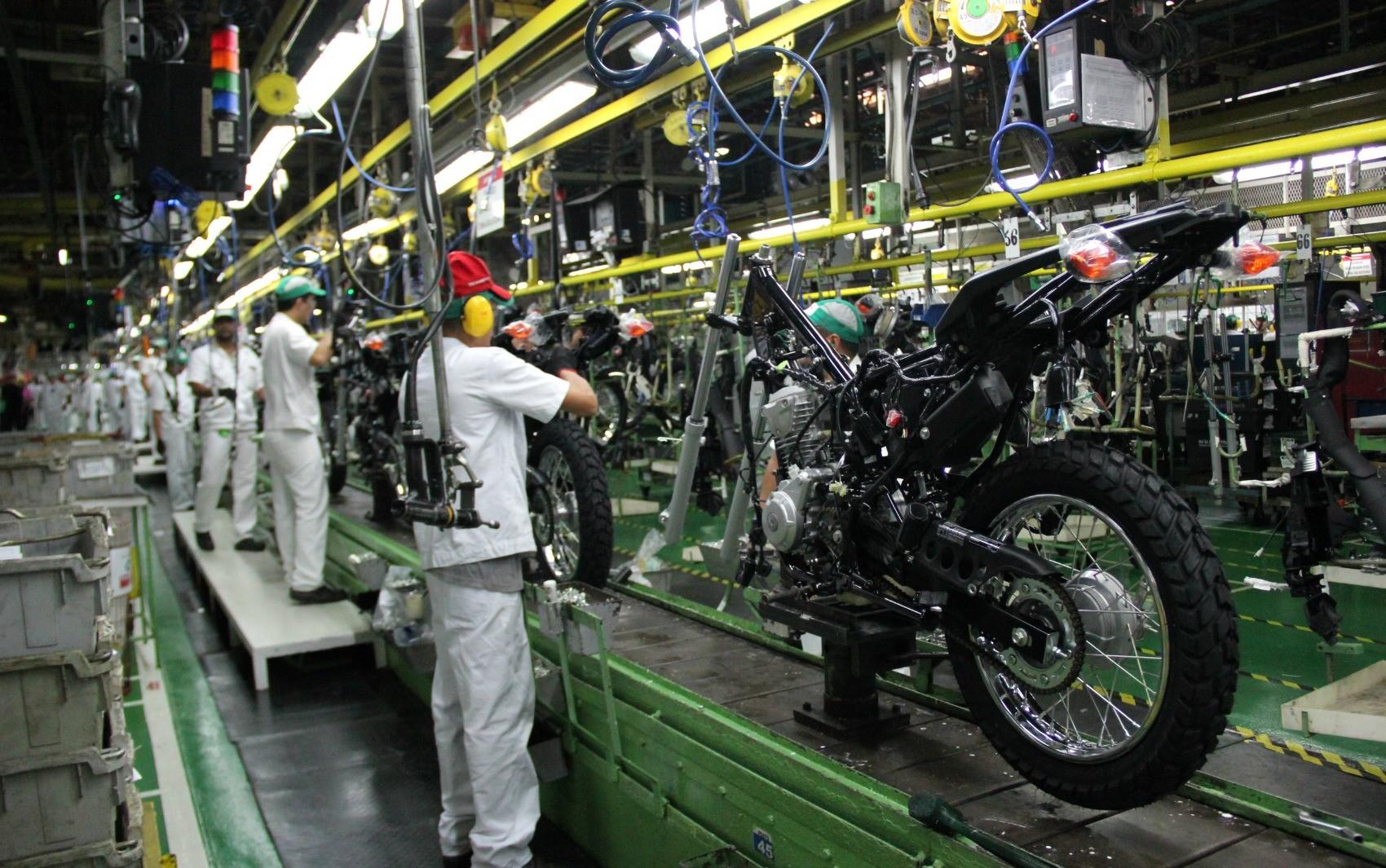 Produção de motos sobe 10,8% em março, diz Abraciclo