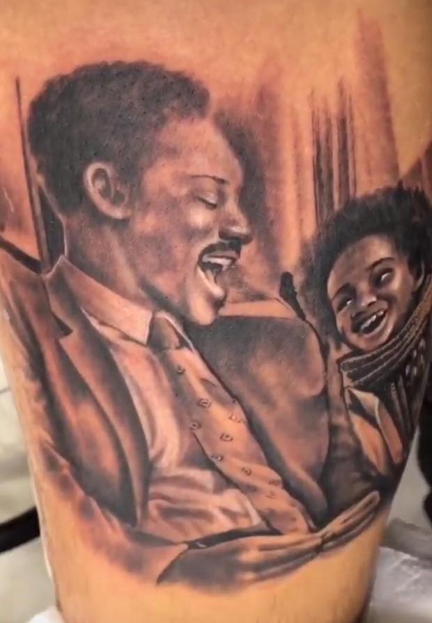 Fernando Medeiros faz tatuagem em homenagem a Will Smith (Foto: Reprodução Instagram)