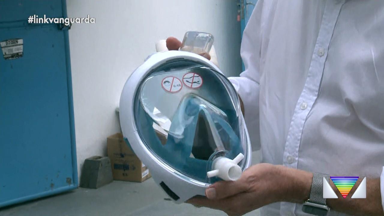 Máscaras de mergulho são adaptadas para ajudar no tratamento da Covid-19