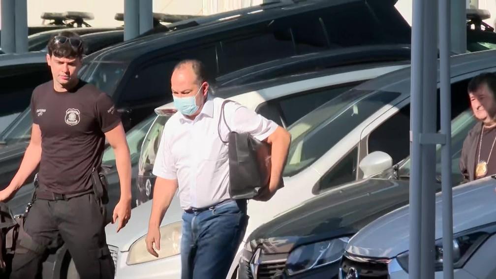 Pastor Everaldo na chegada à sede da Polícia Federal na manhã desta sexta-feira (28) — Foto: Reprodução/ TV Globo