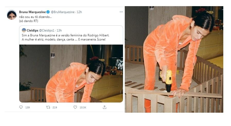 Bruna Marquezine reage a brincadeira no Twitter (Foto: Reprodução)