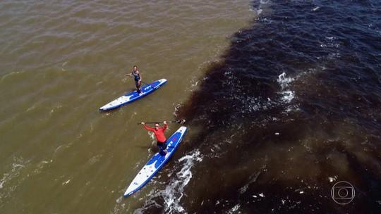 Carol Barcellos e Clayton Conservani se aventuram pelo Alto Rio Negro; veja as fotos