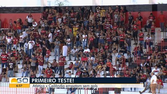 Atlético-GO perde pênalti e fica no 0 a 0 com o Ceilândia em amistoso