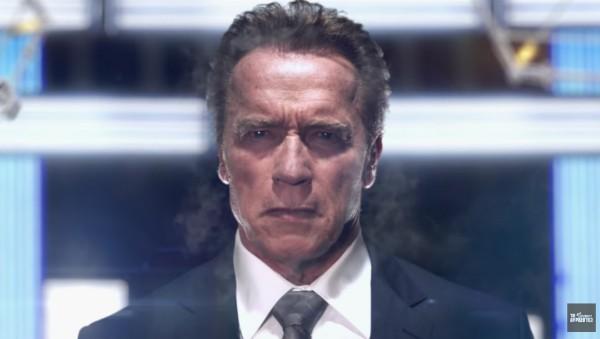 O ator Arnold Schwarzenegger na prévia de 'O Aprendiz' (Foto: Reprodução)