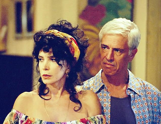 Lady Francisco e Nuno Leal Maia em O amor está no ar (1997) (Foto: Bazilio Calazans/TV Globo)
