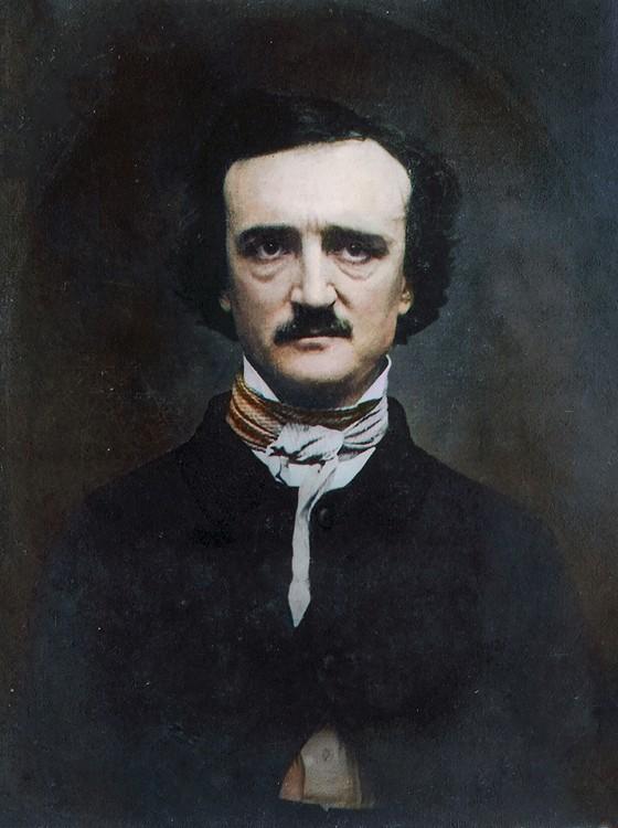 Edgar Allan Poe (Foto: COLORIZADAS POR MARINA AMARAL)