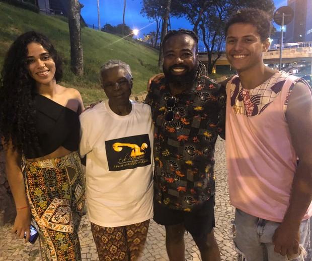 Elana, Conceição Evaristo, Rodrigo e Danrley (Foto: Adalberto Neto/Divulgação)